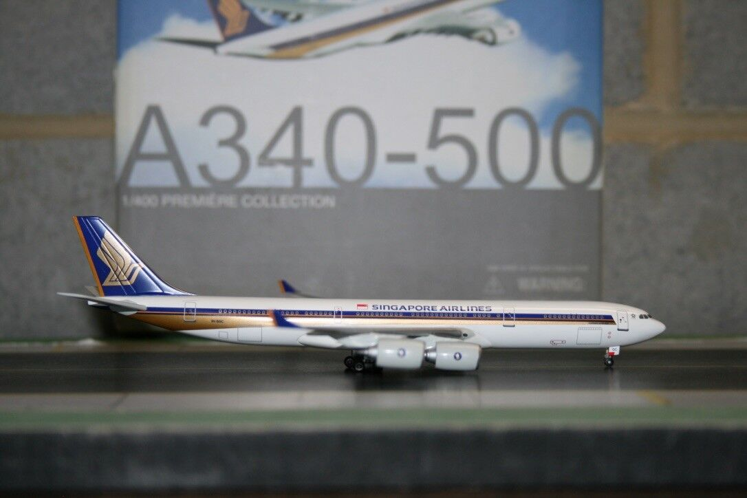 Alas de dragón 1 400 Singapore Airlines Airbus A340-500 9V-SGC (55750) modelo de avión