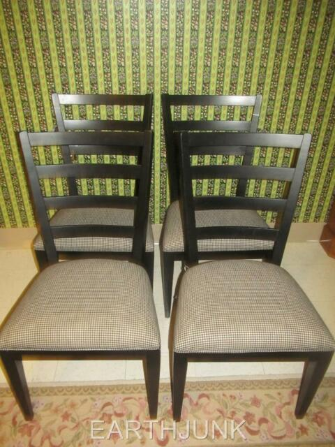 ethan allen tango ladderback side chair 38 6511 black painted finish