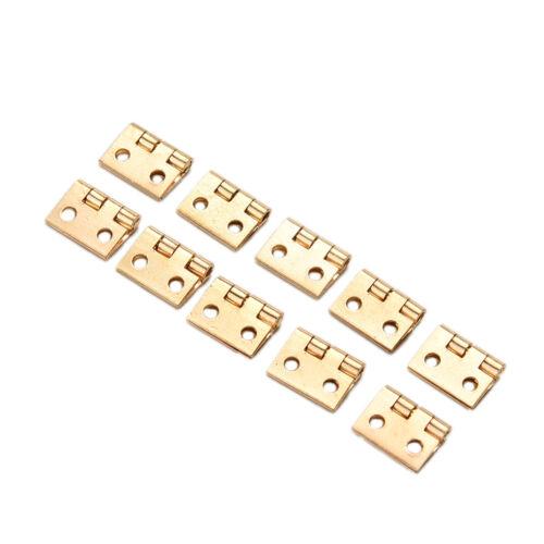 10Pcs Mini Small Metal Hinge for 1/12 House Miniature Cabinet Furniture TDCA