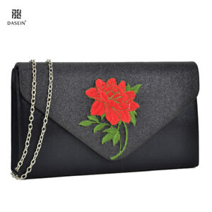 Women-Floral-Handbags-Evening-Clutch-Purse-Bag-Flower-Shoulder-Bags-Wallet