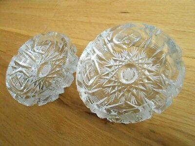 2 Kristallaschenbecher