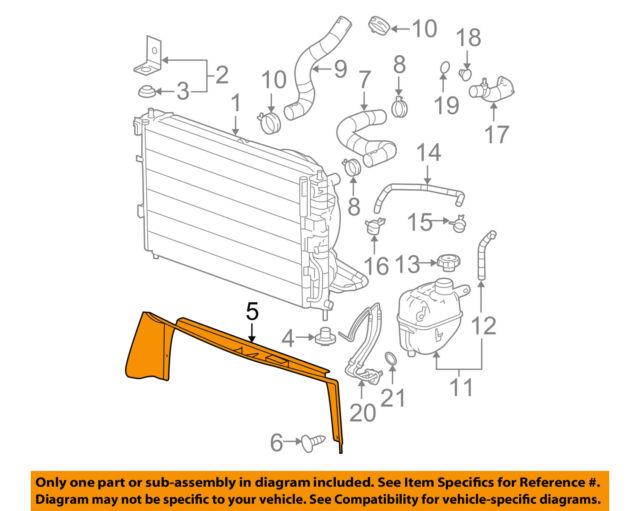 chevrolet gm oem 05-09 equinox 3 4l-v6 radiator-splash shield 15873183