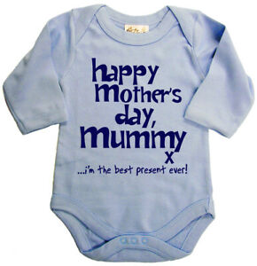 Dirty-Fingers-Happy-Mother-039-s-Day-Mummy-x-Baby-Boy-Long-sleeve-Bodysuit