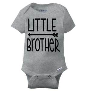 6db759f2a Image is loading Little-Brother-Adorable-Gerber-Onesie -Relatives-Family-Sibling-