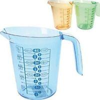 Rührschüssel Meßbecher 1 Liter Meßpott Meßkanne Litermaß Backhelfer Farben