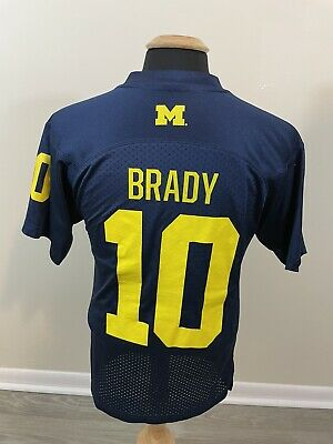 Men's Adidas Michigan Wolverines Football Jersey Small #10 Tom Brady Authentic | eBay