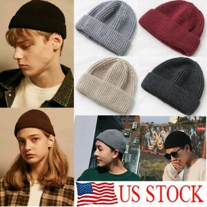 New-Unisex-Men-Women-Beanie-Hat-Warm-Ribbed-Winter-Turn-Ski-Fisherman-Docker-Hat