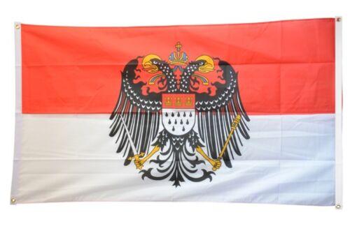 BALKONFLAGGE BALKONFAHNE Deutschland Stadt Köln mit großem Wappen Flagge Fahne f