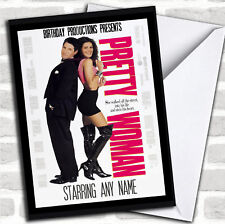 Item 7 Spoof Pretty Woman Film Poster Funny Personalized Birthday Card