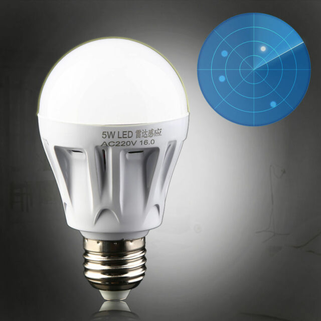 E27 LED Microwave Radar Motion Ambient Sensor Light Lamp Bulb AC85-265V JEG