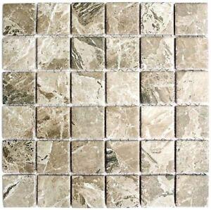 Lieblich Das Bild Wird Geladen Keramik Mosaik Steinoptik Beige Sandbraun Wand Kueche  Dusche