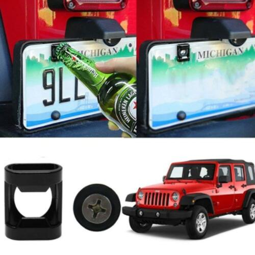 Rear License Plate Mounted Bottle Opener Tailgate Screw Fit For Jeep Wrangler