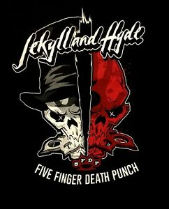 FIVE-FINGER-DEATH-PUNCH-cd-lgo-Got-Your-Six-JEKYLL-amp-HYDE-Official-SHIRT-MED-oop