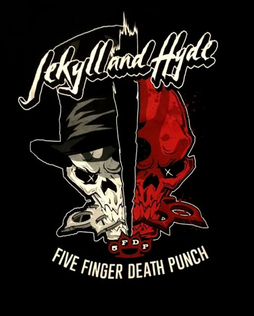 FIVE FINGER DEATH PUNCH cd lgo Got Your Six JEKYLL & HYDE Official SHIRT MED oop