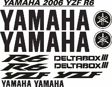 2008 Yamaha YZF R6 decals sticker graphics kits
