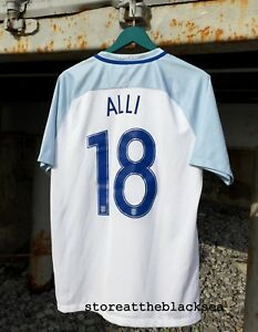 competitive price f13a3 1e75d Details about ENGLAND NATIONAL TEAM 2016 2018 18 ALLI HOME FOOTBALL SOCCER  SHIRT JERSEY NIKE L