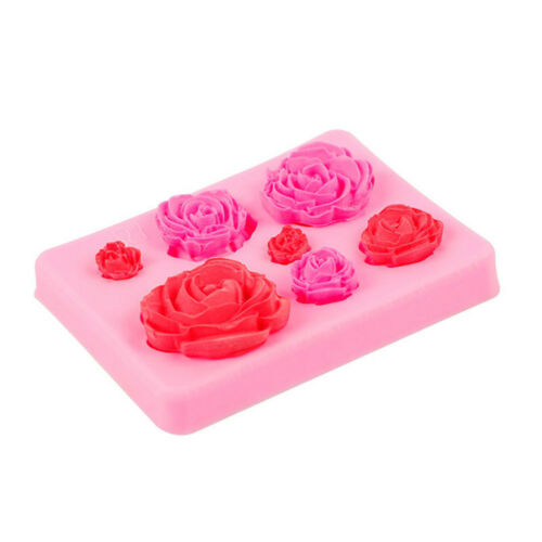 3D Rose Flower Silicone Fondant Mold Cake Decor Chocolate Baking Tools Mould NEW