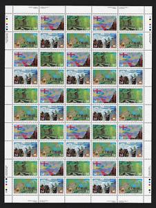 Canada-Stamps-Full-Pane-of-50-Exploration-Investigators-1126-1129-MNH