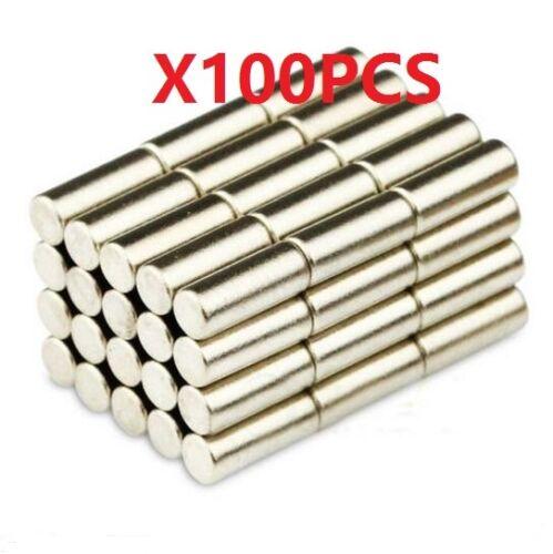 100PCS Super Strong Neodymium Magnets Disc Rare-Earth Fridge Magnet 3X5mm N35