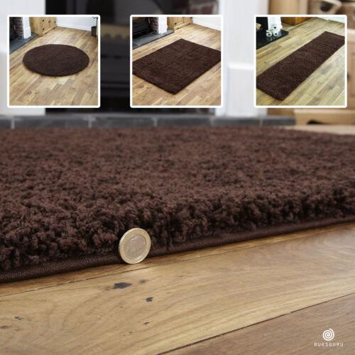 Brown petites x extra large plaine Tapis-Épais 5 cm de haut pile Shaggy Tapis Modernes