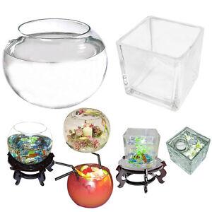 Bubble-Glass-Goldfish-Bowl-Square-Vases-Wedding-Table-Centrepiece-Decoration