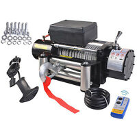 Classic 9500lbs 12v Electric Recovery Winch Truck Suv Wireless Remote Control on sale