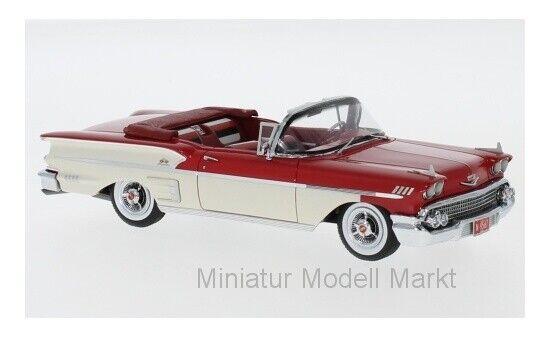 49567 - Neo Chevrolet Bel Air  Impala Convertible-Rouge Blanc - 1958 - 1 43  tout en haute qualité et prix bas