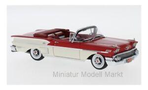 49567-Neo-Chevrolet-Bel-Air-Impala-convertible-rojo-blanco-1958-1-43