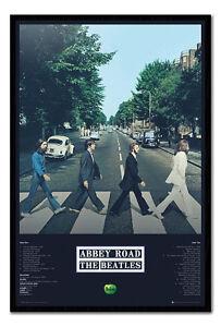 Framed-The-Beatles-Abbey-Road-Album-Tracks-Poster-New