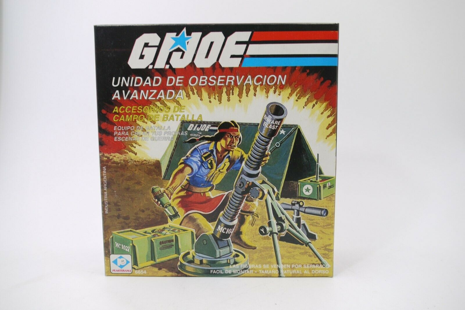 G.I Joe 1984 Forward Observer Unit PLASTIRAMA SilberINA MIB 100% COMPLETE