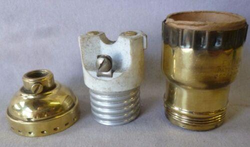 "Lamp Socket /""Leviton/"" keyless BRASS SHELL Fat Boy polished priced per each"