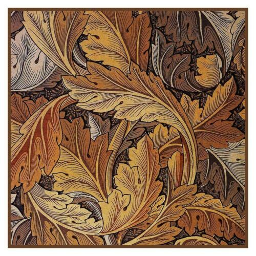 William Morris Gold Acanthus Leaves Counted Cross Stitch Chart Pattern