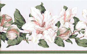 Magnolia-Flowers-amp-Blooms-Wallpaper-Border-JS9208B