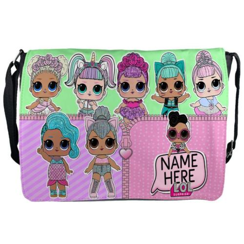 Personalised Girls Bag LOL SURPRISE Shoulder Small Messenger School Gift KSP118