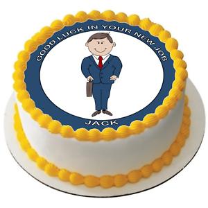 "Nuevo trabajo 7.5/"" Premium Glaseado Comestible Cake Topper puede personalizar texto D1"
