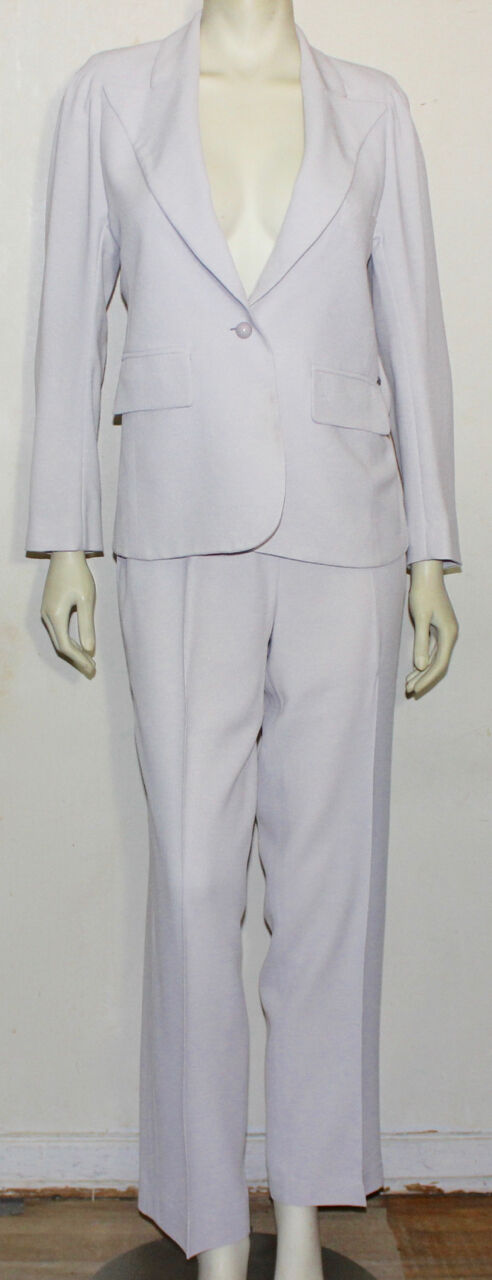 Sonia Rykiel light grey pant suit 42  worn
