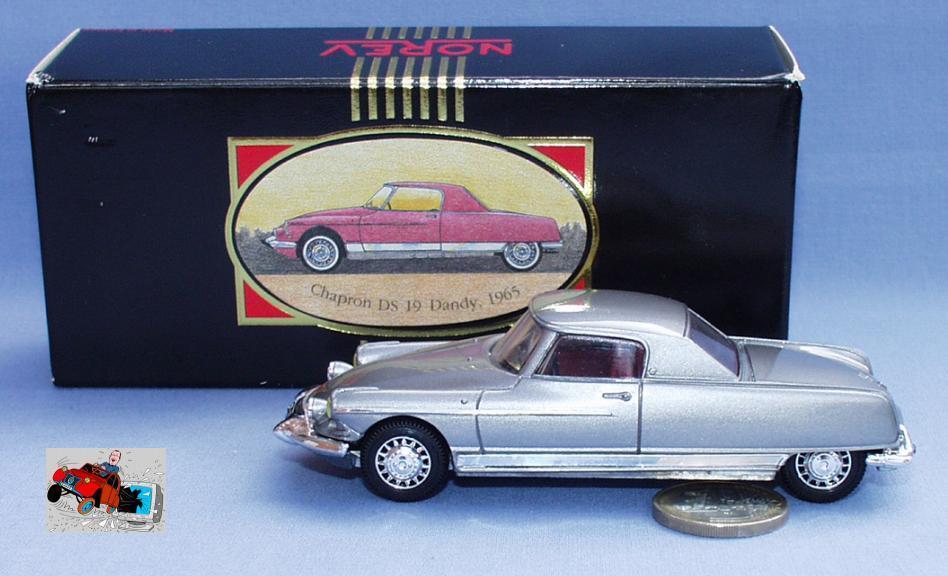 Norev ligne schwarze 1   43  citroën ds 19 chapron dandy - coupé von 1965 (silber)