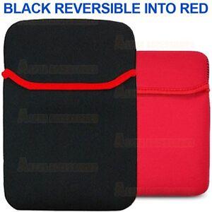 Noir-Reversible-Neoprene-Porter-Etui-Pochette-Kobo-Touch-Ereader-6-039-039-GB