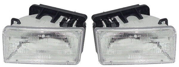 New Replacement Headlight Assembly Pair    For 1991
