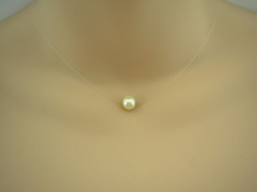 Floating Pearl Illusion Necklace necklaces for women 41i any colour /& size