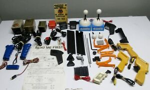 HUGE-UNTESTED-LOT-OF-VINTAGE-TOY-SLOT-CAR-PARTS-AND-ACCESSORIES-MUST-SEE