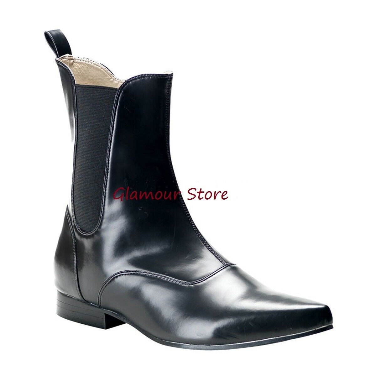 Boots man numbers 41 -42 Matte Black Heel 2,5 cm Rock Boots Fashion