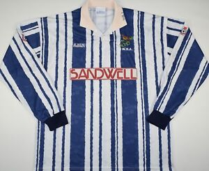 a0686627c 1992-1993 WEST BROMWICH ALBION PLAYER ISSUE HOME FOOTBALL SHIRT ...