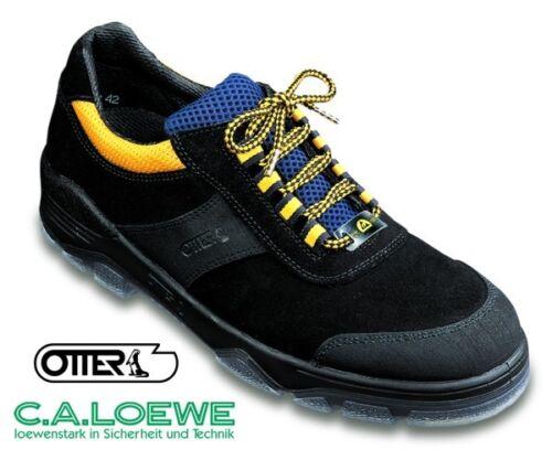 Leder schwarz gelb S2 NEU Arbeitsschuhe Sicherheitsschuhe Otter 98402