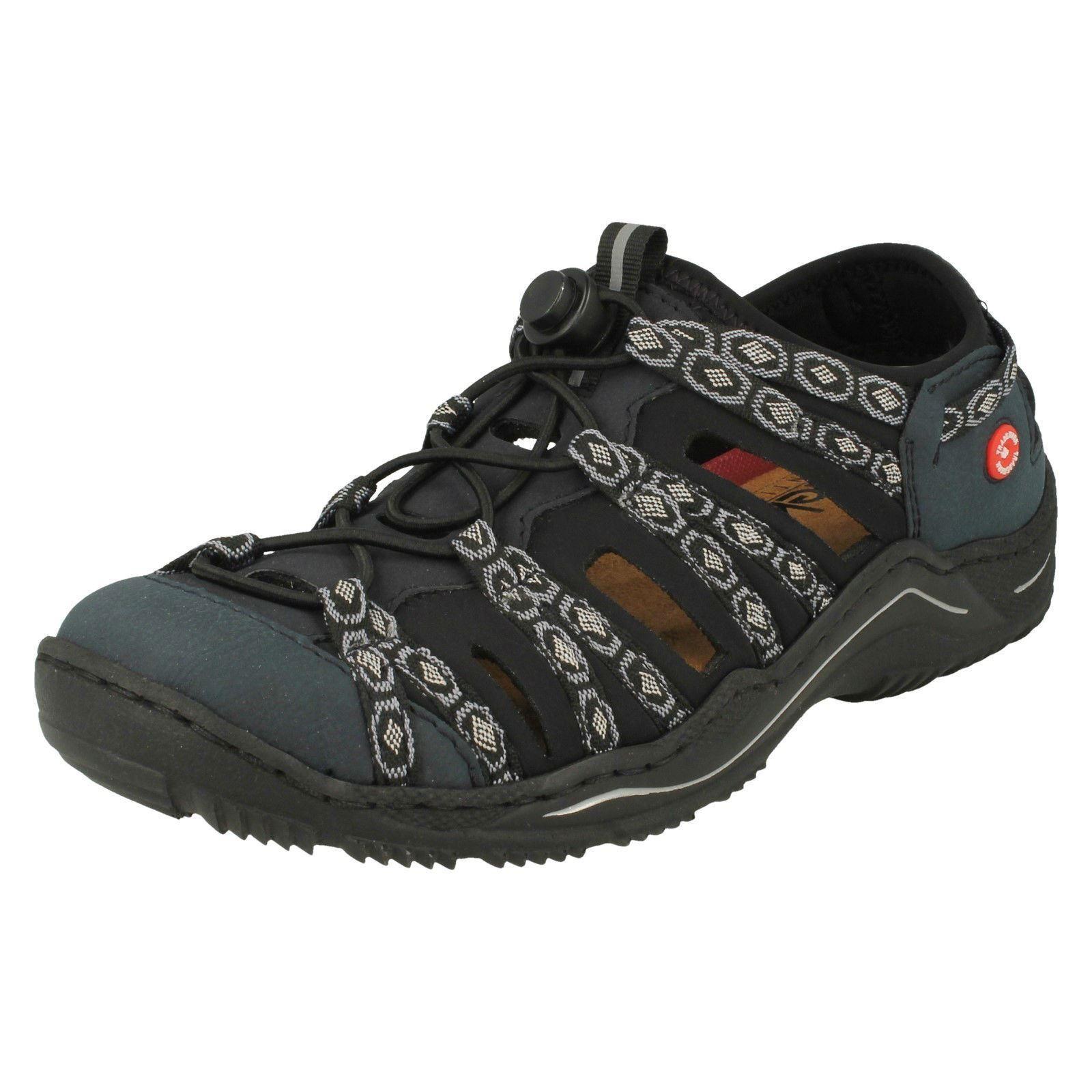 Ladies Ladies Ladies Rieker L0577 bluee Synthetic Slip On Closed Toe Sandals 4c3b20