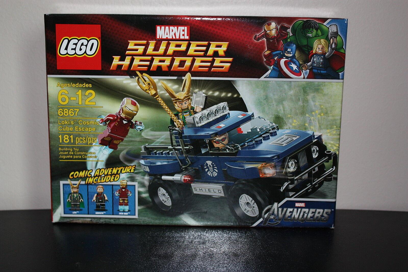 Lego Marvel Super Heroes 6867 Loki's Cosmic Cube Escape 181 Pcs