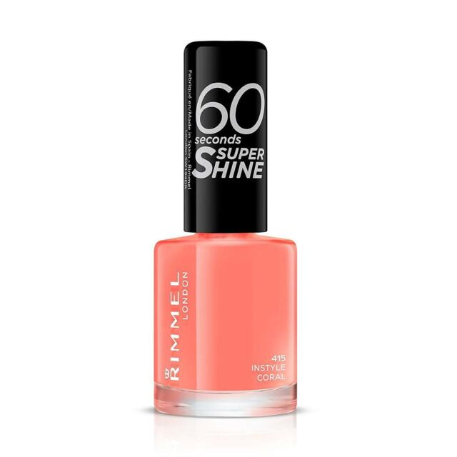 Rimmel Queen Of Tarts 60 Seconds Super Shine Nail Polish Varnish Pink 8Ml 48HR