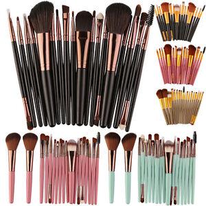 18-PIEZAS-Maquillaje-Brochas-Set-Base-Sombra-De-Ojos-Delineador-polvo-Kabuki