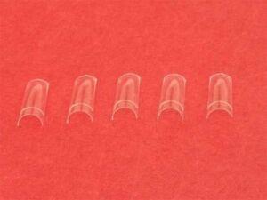 100-CLEAR-HALF-WELL-NAIL-TIPS-false-art-acrylic-gel-fibreglass-nails