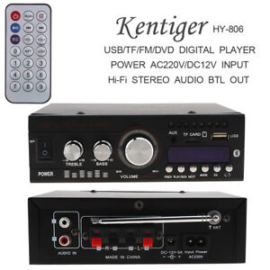 LED-Amplifier-HIFI-Audio-Stereo-bluetooth-FM-2CH-AMP-Car-Home-USB-SD-MP3-AC110V